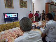 Gubernur Ansar dan Menteri Senior Singapura Maliki Oesman bertemu secara virtual, Rabu (17/3/2021). , berte