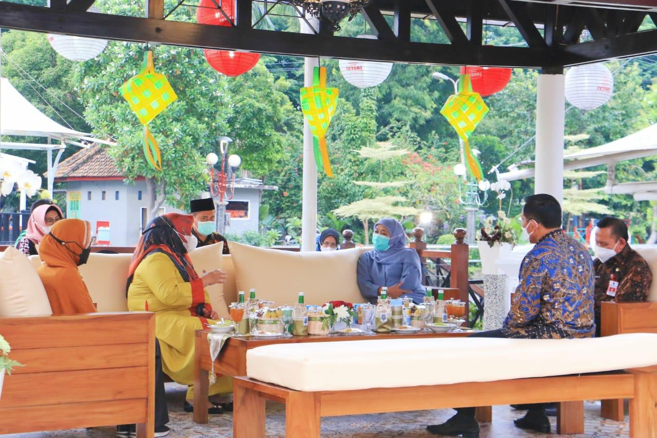 Wagub Marlin bersilaturahmi dengan Gubernur Khofifah.