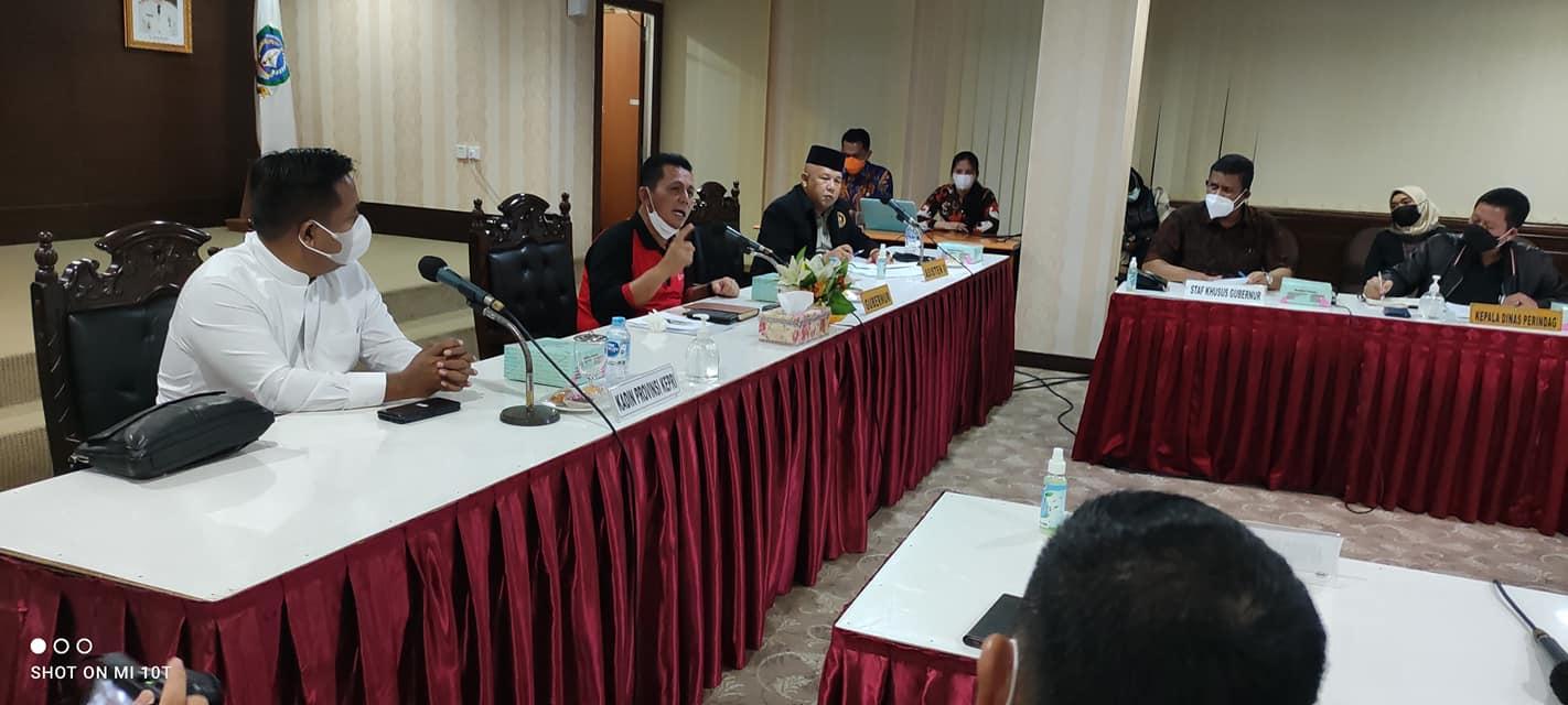 Gubernur Kepri Ansar Ahmad memeroyeksikan perekonimian Kepri rebound pada awal 2022.