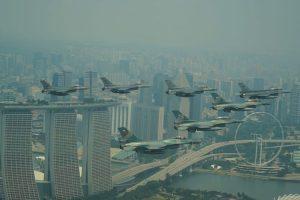 Dua Kasau Bertemu di Atas Udara Batam dan Singapura.